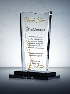 78 Best Appreciation and Thank You Gift Plaques images ...