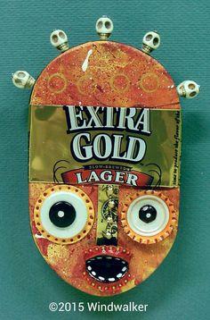 Extra Gold Tribal Head