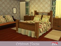 evi's Sims 4 Downloads - 'christmas' Sims 4, Content, Bed, Christmas, Furniture, Home Decor, Xmas, Decoration Home, Stream Bed