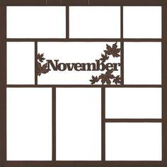 November 12 x 12 Overlay Laser Die Cut (¥355) found on Polyvore