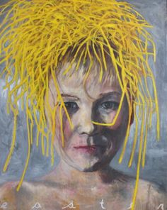 """A boy Named Easter Oil on Canvas 60 x 48"""" 2014"""