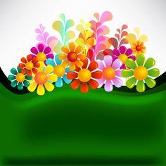 Hermosos y coloridos Vectores florales – Puerto Pixel | Recursos de Diseño