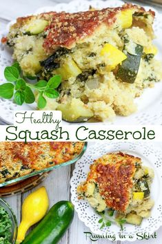 Healthy Squash Casserole, Summer Squash Casserole, Yellow Squash Casserole, Clean Eating Recipes, Lunch Recipes, Healthy Dinner Recipes, Vegetarian Recipes, Weekly Recipes, Meal Recipes