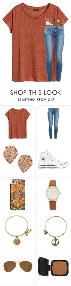 """Anyone going to HOCO tonight?"" by southern-belle606 ❤ liked on Polyvore featuring H&M, Paige Denim, Kendra Scott, Converse, Casetify, Kate Spade, Alex and Ani, Ray-Ban and NARS Cosmetics"