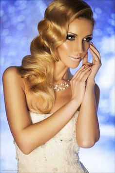 Hair styling for wedding.