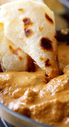 ..Eastern Indian butter chicken: simple and savory, served with basmati rice and naan.