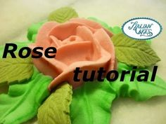 Ghiaccia reale decorazioni: rose (royal icing roses) by ItalianCakes - YouTube