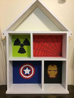 Action Figure Super Hero Headquarters - Action Figure Display - Action Figure Diorama - Dollhouse - Kids Bookcase This solidly constructed action figure play house can be used for endless hours of open ended play or as a bookcase to hold your little ones literary collection. It can also #BarbieStuff
