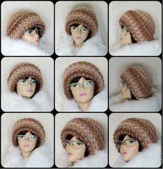 Купить Шапка вязаная женская теплая, шапка зимняя женская из шерсти и мохера - бежевый