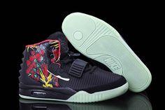 b12d184004c7f Nike Air Yeezy 2 Sneaker Givenchy by Mache Customs Night Light Black Men s  Shoes