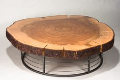 Pecan Slab Coffee Table- 170 year old slab