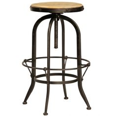 Ford Industrial Barstool W/Out Back | Memoky.com