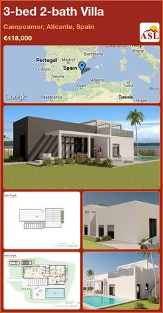 3-bed 2-bath Villa in Campoamor, Alicante, Spain ►€418,000 #PropertyForSaleInSpain