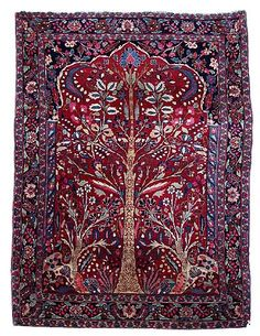 Persian rug. I like the ones with pictures of animals on them best (this one is just a tree, but still better than an abstract pattern)