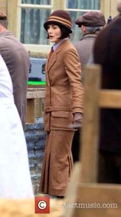 The Bates' Legal Team | Lady Mary in a market scene for Downton Abbey Series 6