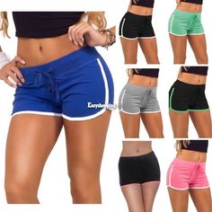 Women'S Cotton Sports Shorts Casual Beach Running Slim Gym Yoga Hot Pants Es9P