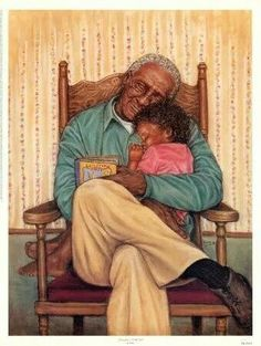 Grandpa's Little Girl by Marla Oliphant is just one of the many fine art prints for sale at Christ-Centered Art. Art Black Love, Black Girl Art, My Black Is Beautiful, Art Girl, Beautiful Family, Black Art Pictures, Arte Sketchbook, Black Artwork, Black Families