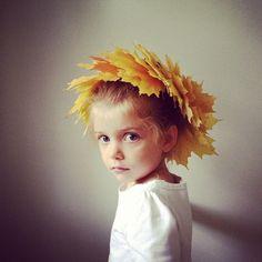 Gorgeous leaf crown from Kirsten Rickert