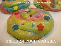 Unicorn Poop Cookies - Making Memories With Your Kids