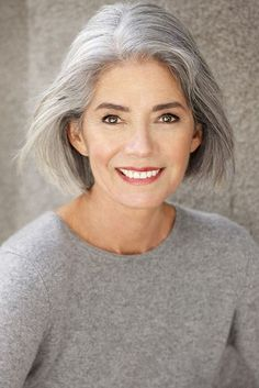 Silver - model management - paris long gray hair, silver grey hair, white h Long Gray Hair, Silver Grey Hair, White Hair, Silver Haired Beauties, Salt And Pepper Hair, Hot Hair Styles, Platinum Hair, Ageless Beauty, Going Gray