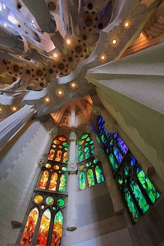 Stained Glass, a photo from Barcelona, Catalonia   TrekEarth