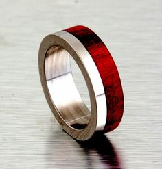 Mens wooden wedding ring
