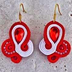 Handmade ZuzDesign Soutache Earings Flamengo http://femmefashion.sk/zuz-design/2388-nausnice-flamengo.html