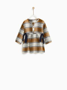 2e6599402 Image 1 of PLAID DRESS WITH TIES from Zara Toddler Fashion, Toddler  Outfits, Girl