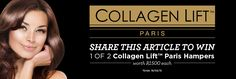 WIN 1 of 2 Collagen Lift™ hampers worth Eye Liner Tricks, Beauty Hacks, Beauty Tips, Bad Hair Day, Skin Care Tips, No Time For Me, Collagen, Your Skin, Eyeliner
