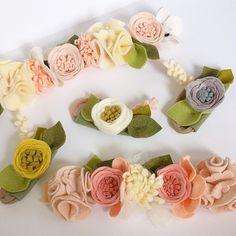 felt flower crowns // find us on etsy! http://fancyfreefinery.etsy.com // fancy free finery