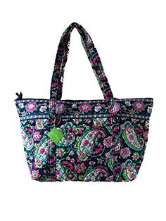Vera Bradley Miller Bag in Petal Paisley with Solid Pink Interior >>> You can get more details by clicking on the image.