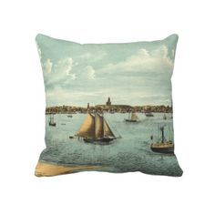 Vintage Pictorial Map of Provincetown (1887) Pillow from Zazzle.com $62.40