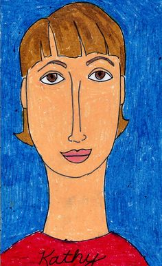 Art Projects for Kids: Oil Pastel Portraits – Modigliani Style
