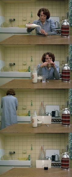 Chantal Ackerman, remember that scene. Thought it was so boring, then I saw the movie where she's eating sugar ♡♡ Je, tu, il, elle (1974)