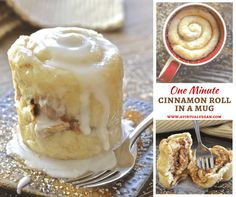 If you have a mug, a microwave & a spoon you can make this One minute Cinnamon Roll in a Mug. Perfect for when sweet cravings hit & you NEED dessert now!