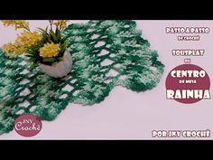 Sousplat ou centro de mesa Rainha - JNY Crochê - YouTube
