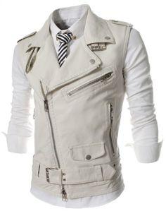 男性用の Men's フェイクレザー Faux Leather Vests ベスト Motorcycle Biker オートバイバイカー (2X-Large: US X-Large, ホワイト White) Hi Korean Fashion http://www.amazon.co.jp/dp/B00L9RFG7A/ref=cm_sw_r_pi_dp_sHMfub13976GN
