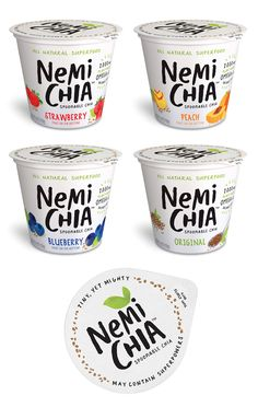 """Portable Superfood Snacks : """"chia seed snacks""""—— Love the copy and font treatment."""