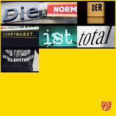 """""""Die Norm der #Currywurst ist total ausser Kontrolle"""" ... Genau so ist es.   #urbanpoetry #Berlin #Wien #Zürich"""