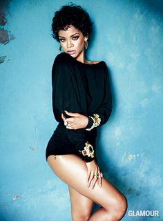 Rihanna's Glamour shoot