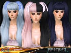 The Sims Resource: Ade - Martinez (With Bangs) • Sims 4 Downloads