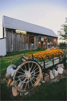 wedding at The Good Tymes Barn
