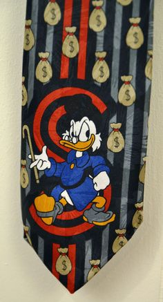 Walt Disney Uncle Scrooge McDuck Neck Tie Black Duck Tales Mickey unlimited #MickeyUnlimited #Tie