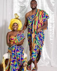 8b41a3edde6 See How Ghanaian Couples Are Rocking This Iconic Super Luxe Big Day Looks  in Kente -. Pagne KitaTenue Classe HommeMariage ...