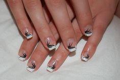 black gel nail designs - Google Search