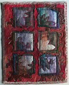 Medieval Art Inspired Embroidered Wall Hanging by PingWynny, $50.00