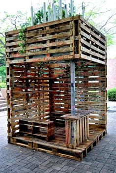10 Creative Uses for Old Wood Pallets: Outdoor deck of sorts - Click image to find more Gardening Pinterest pins