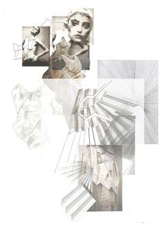 Fashion Sketchbook - fashion architecture, fabric manipulation ideas, fashion design development
