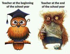 Teacher Beginning of the year and the END!/ Nauczyciel na początku i na końcu roku szkolnego :-)