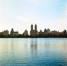 across the water in central park a view of the San Remo apartments and other buildings - taken on Kodak Ektar100 film [2072  2041][OC]